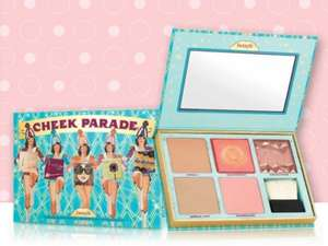 Cheek parade blush kit  for £49.50 + FREE lollitint deluxe sample & luggage tag + Another 2 FREE Samples & FREE delivery @ Benefit