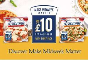Dr Oetker Ristorante Pizza`s from Only 25p each after initial purchase @ ASDA (£1 off voucher)