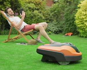 Flymo Robotic Lawnmower 1200R £599.99 (£483.98 with new customer code) @ Very