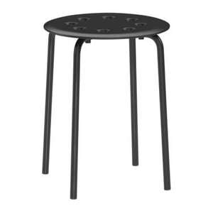 Stool MARIUS Black, Red and White £3 at Ikea