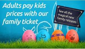 Adults pay kids prices when you book a family ticket this Easter plus free gifts on selected films and limited edition topped popcorn @ Odeon