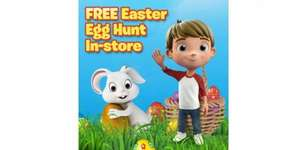 Free Easter Egg Hunt Saturday 15th April in stores at all Smyths Toys shops