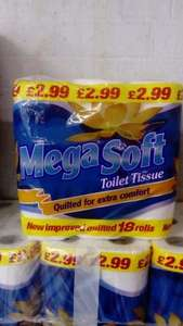 18pack Megasoft Quilted Toilet roll £1.49 @ Latifs Birmingham