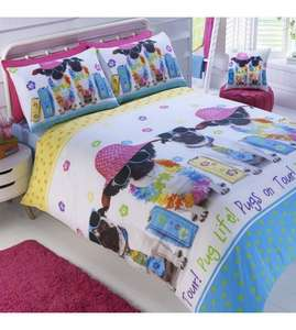 Summer Pug Duvet Set single £4.99 / £9.98 delivered @ Studio