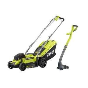 Ryobi ONE+ 18V Cordless Lawn Mower and Grass Trimmer Twin Pack £189.95 @ Homebase