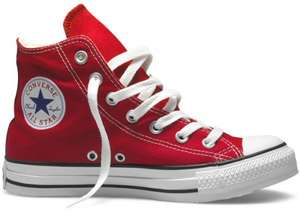 Converse Unisex Adult Chuck Taylor All Star Hi-Top Trainers Red sizes 8, 9 and 11.5 only £25.60 delivered from Amazon