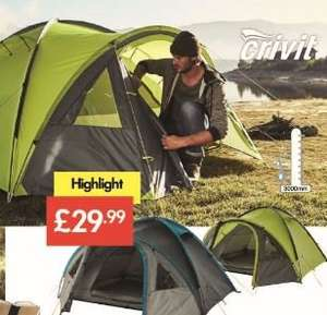 Four Person Double-Skin Tent with Integral Mosquito Net- £29.99 - LIDL (Crivit)