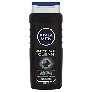 Nivea Men Active Clean Shower Gel 500 ml - Pack of 6 Amazon £12 (£16.75 Non-Prime)