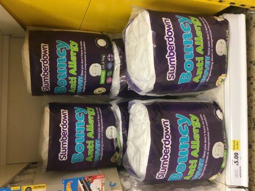 Slumberdown single Bouncy anti-allergy duvet was £20 now £5 @ Tesco