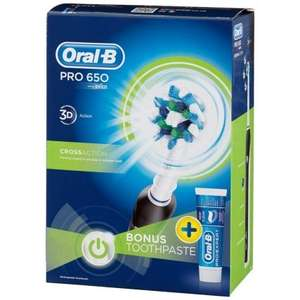 Oral B Pro 650 (and Pro 690) Electric Toothbrush just £19.99 at B&M