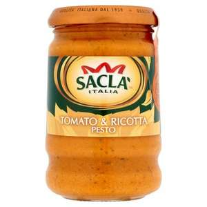 Sacla Italia Tomato & Ricotta Pesto 190g 39p In Home Bargains