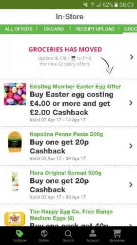 Easter Eggs - Spend £4 and claim £2 back via topcashback app.