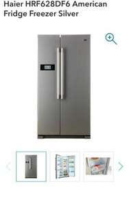 Haier American Fridge Freezer Silver £399.99 - Co-op Electrical