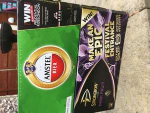 10 cans of Amstel lager and 10 cans of Strongbow Dark Fruit cider for £16 at Morrisons - £6 using CheckoutSmart