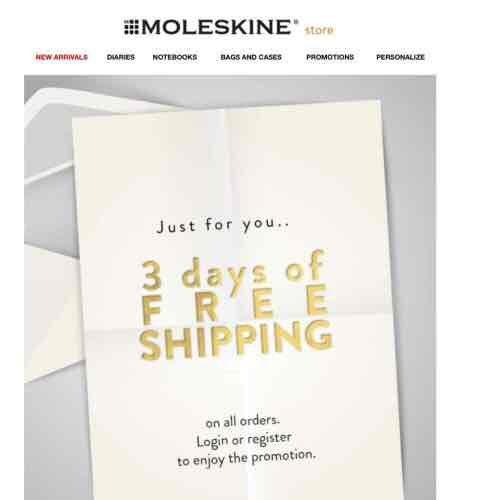 Moleskine Free Shipping online