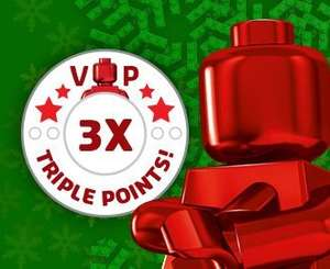 3 x VIP Points at Lego.com (plus free delivery on orders over £15 & free mini VW Beetle over £35)