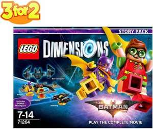 LEGO Dimensions 3 for 2 on Fun, Level, Team and Story Packs @ Smyths