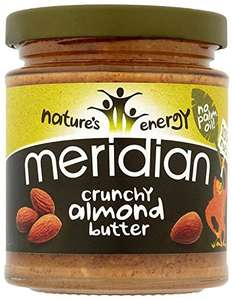 Meridian Natural Crunchy Almond Butter 6 x170 g (= 1.02kg) £7.83 @ Amazon prime exclusive