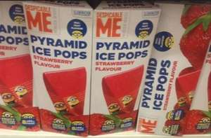 Despicable Me Pyramid 8x65ml Strawberry Ice Pops 10p at poundstretchers