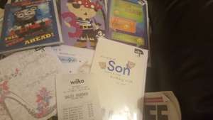 Half price greeting cards instore at Wilko - from 50p
