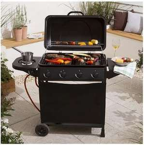 4 Burner Gas BBQ with added side burner from Tesco, only £85