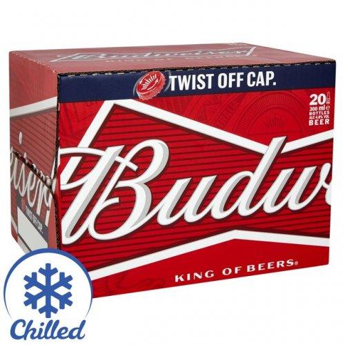 Budweiser Bottles, 20 x 300ml  buy 2 for £20 @ morrisons