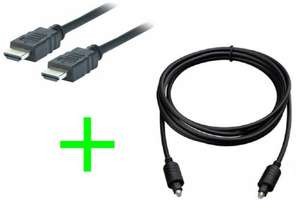 2m HDMI Cable 2m & 1.5m Digital Optical Cable £1.60 delivered Currys eBay