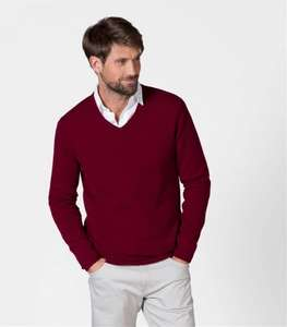 Mens Cashmere V Neck Jumper - Range of Colours - £42.50 @ WoolOvers