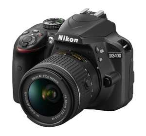 Nikon D3400 DSLR Camera with 18-55mm Lens - £386.10 (with code) @ Argos