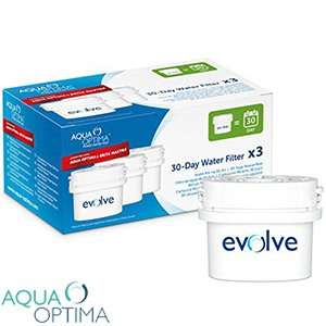 Aqua Optima 30-Day Water Filter Cartridges (Pack of 3) Compatible with Aqua Optima and Brita Maxtra £4.99 @ Home Bargains