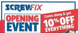 NEW SCREWFIX IN BRACKMILLS, NORTHAMPTON 10% OFF EVERYTHING!
