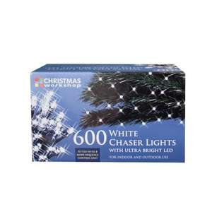 The Christmas Workshop 600 LED Chaser String Lights, Bright White £11.95 Prime / £16.72 Non Prime @ Amazon