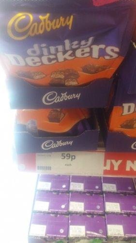 Cadburys Dinky Deckers 120g bag 59p in store Heron Foods
