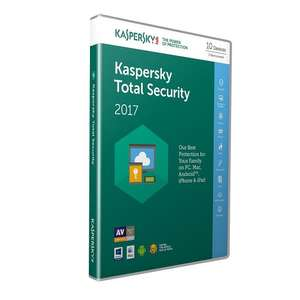 Kaspersky Total Security 2017 10 devices, £14.99 Amazon Lightning