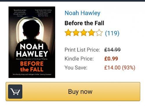 Before The Fall - Noah Hawley (Kindle Edition) 99p