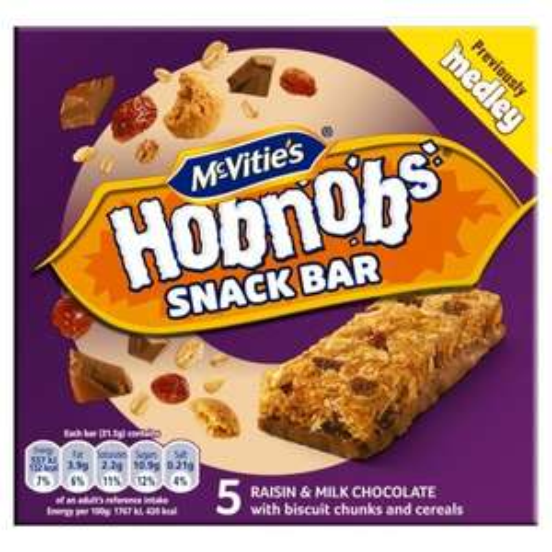 Hobnob's Snack Bars  (5 Pack) 39p @ Home Bargains