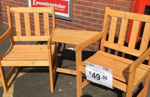 Jack & Jill Garden Chair - £49.99 @ Poundstretcher