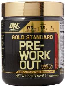 Optimum Nutrition Gold Standard Pre-Workout Supplement, 330g - £10.49 (Prime) Amazon daily deals or £14.48 non prime