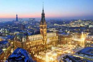 2 nights in Hamburg, Germany for just £57pp (total £227) including flights and hotel @ hotels.com