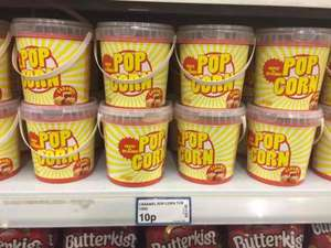 caramel popcorn, 130g bucket, 10p at poundstretcher
