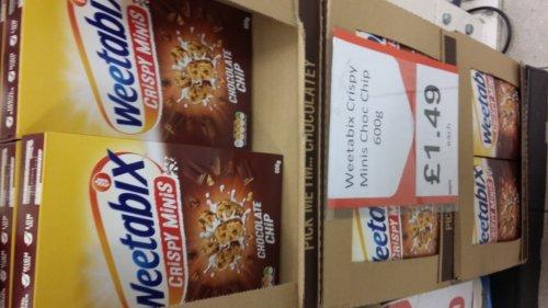 Weetabix  choc chip crispy minis 600g £1.49 heron foods