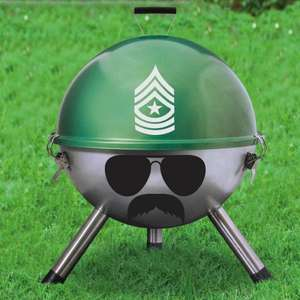"12"" Grill Sergeant Kettle Bbq grill £9.99 @ The gift and gadget store"