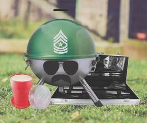 Grill Sergeant Portable Kettle Bbq Grill Set £24.97 @ The gift and gadget store