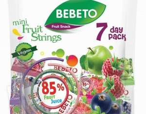 Bebeto Mini Fruit Strings 7 Day Pack  7x20g 79p instore @ Home Bargains