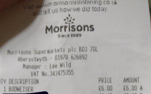 Budweiser 10 x 440ml £6 instore @Morrisons