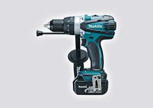 Makita DHP458 18V combi drill, a charger,a 3Ah battery and a makpac case @ mytoolshed for £159.95