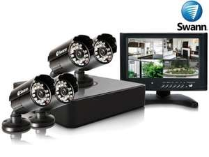 Swan CCTV security system with 4 cameras and Monitor only £139.90 del @ ibood