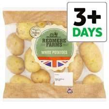 Redmere Farms White Potato 2.5Kg less than half price 49p was £1.29 from 12th @ tesco