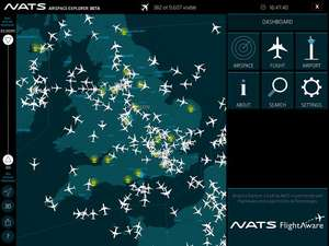 Free iPad app shows live air traffic around the world