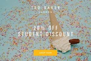 Ted Baker Student Discount 20% Online and In Store